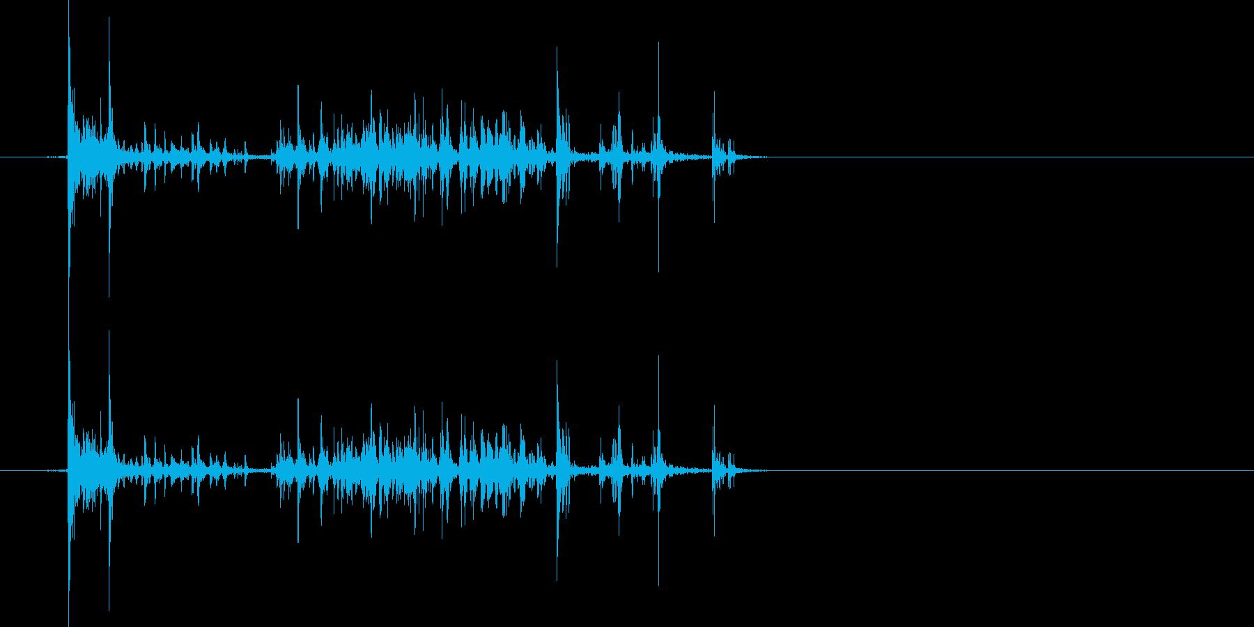 紙を破る4の再生済みの波形
