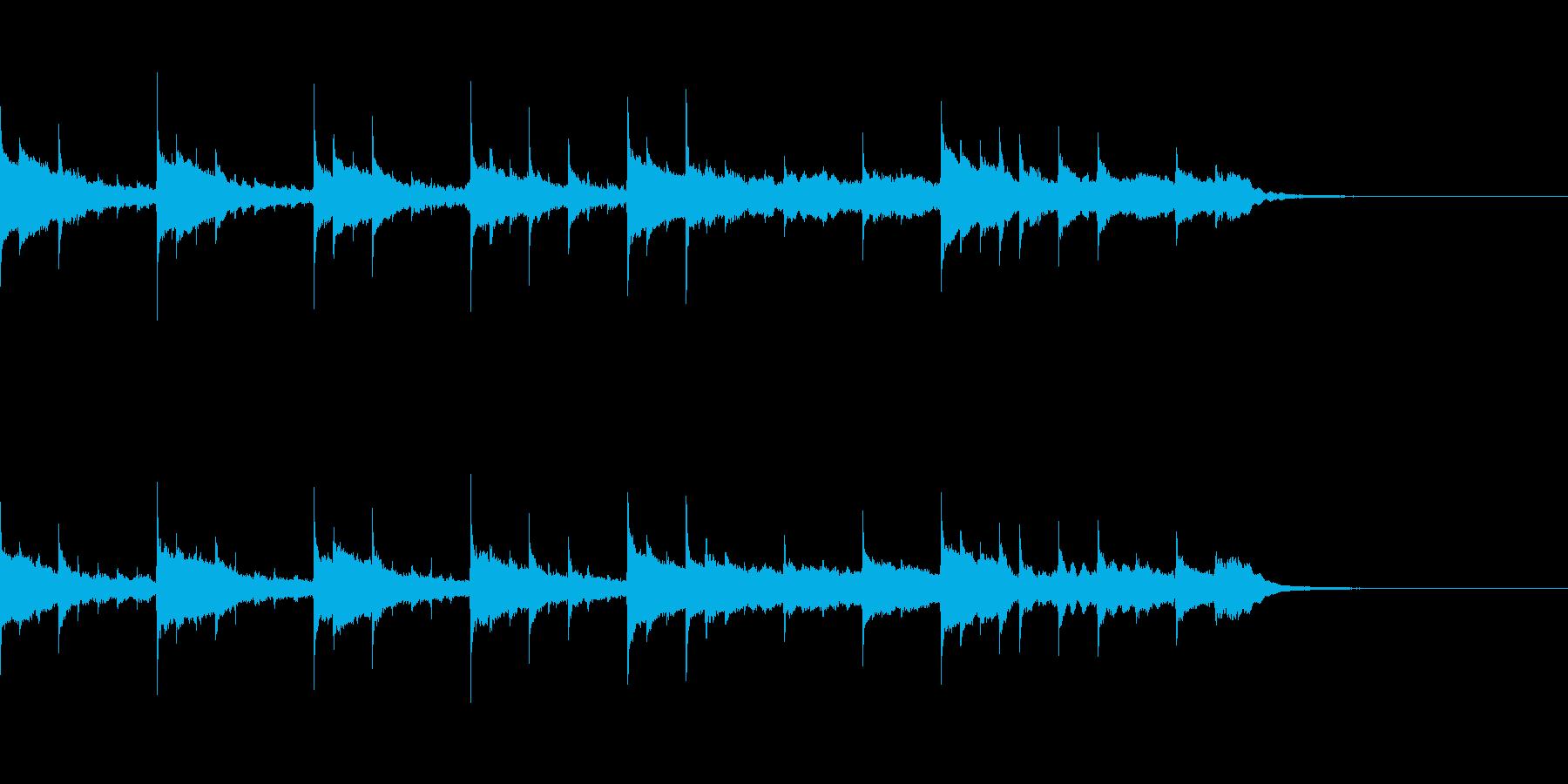 優しいクリスタル音の長めジングルの再生済みの波形