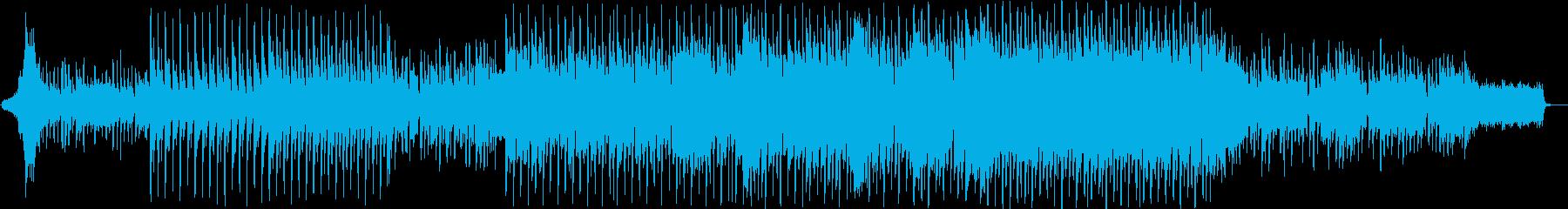 弾けるような明るいポップミュージックの再生済みの波形