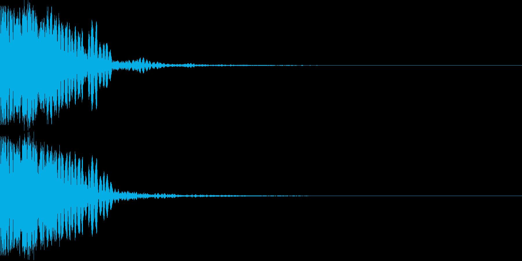 盾で敵の攻撃をガードした時の音の再生済みの波形
