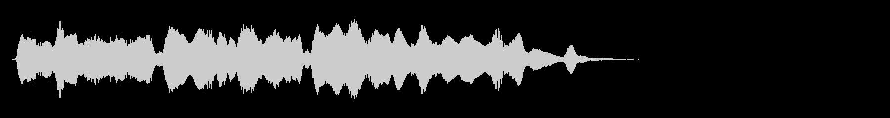 セーブや宿泊に最適なフルートの短い曲の未再生の波形