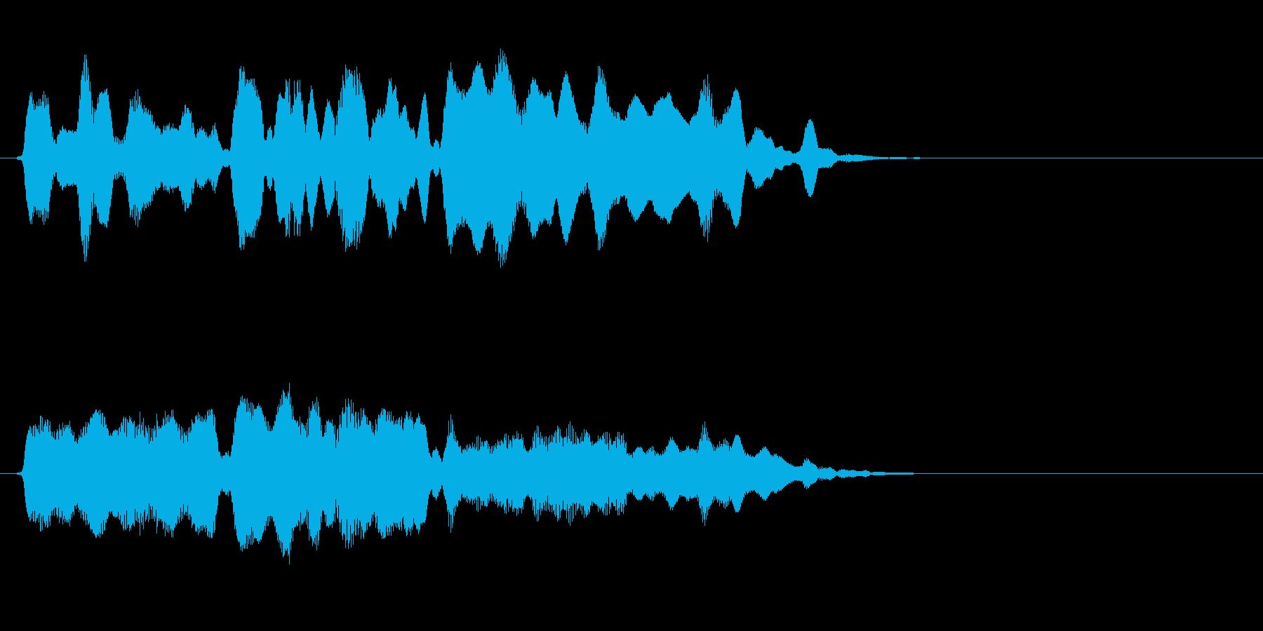 セーブや宿泊に最適なフルートの短い曲の再生済みの波形