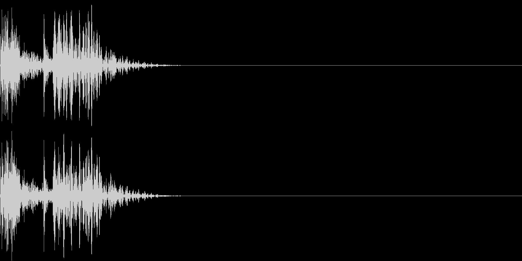 木のドアを閉める(普通に閉める)の未再生の波形