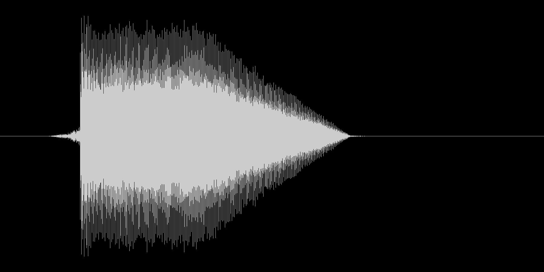 ゲーム(ファミコン風)ジャンプ音_014の未再生の波形