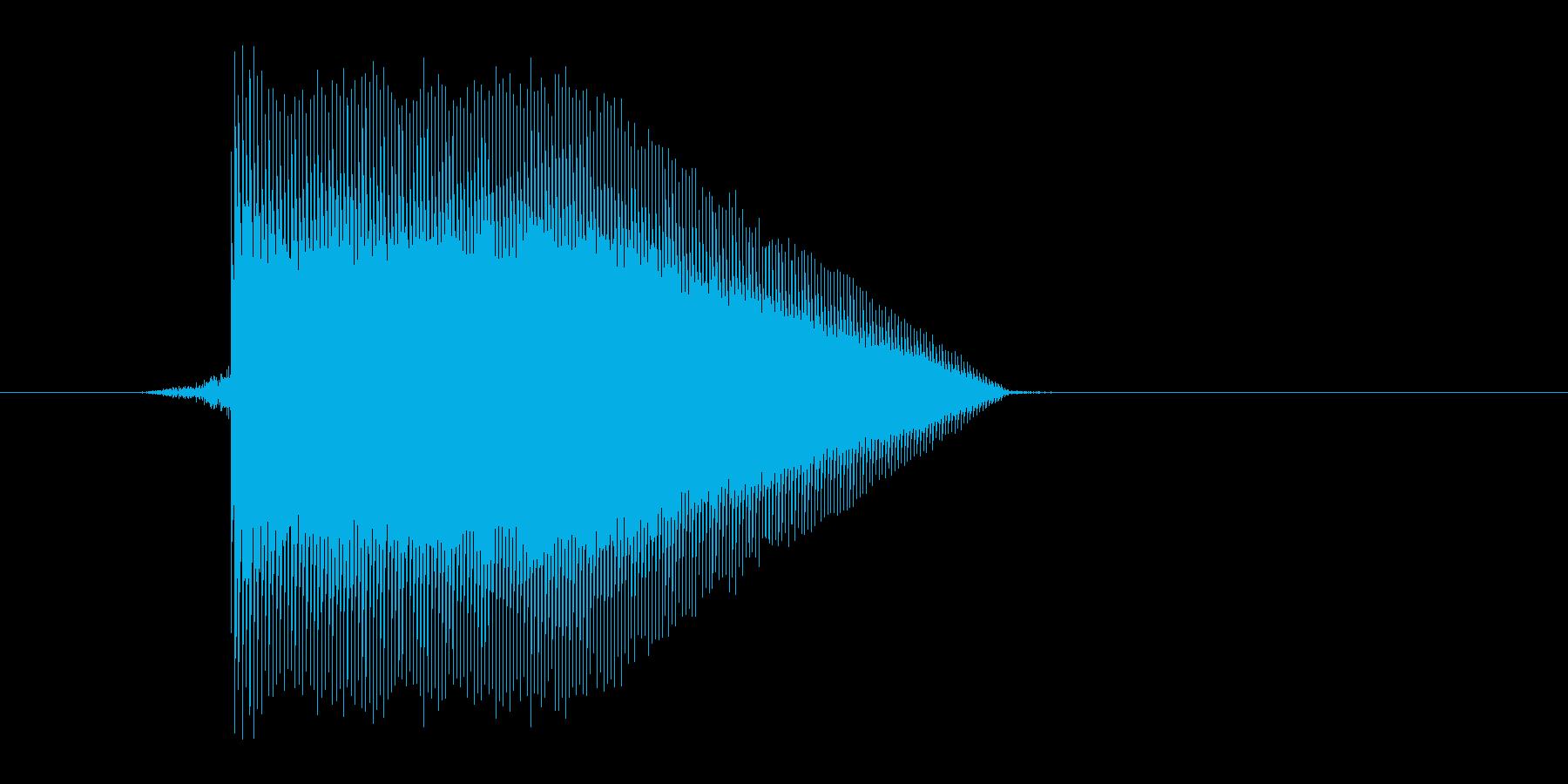 ゲーム(ファミコン風)ジャンプ音_014の再生済みの波形