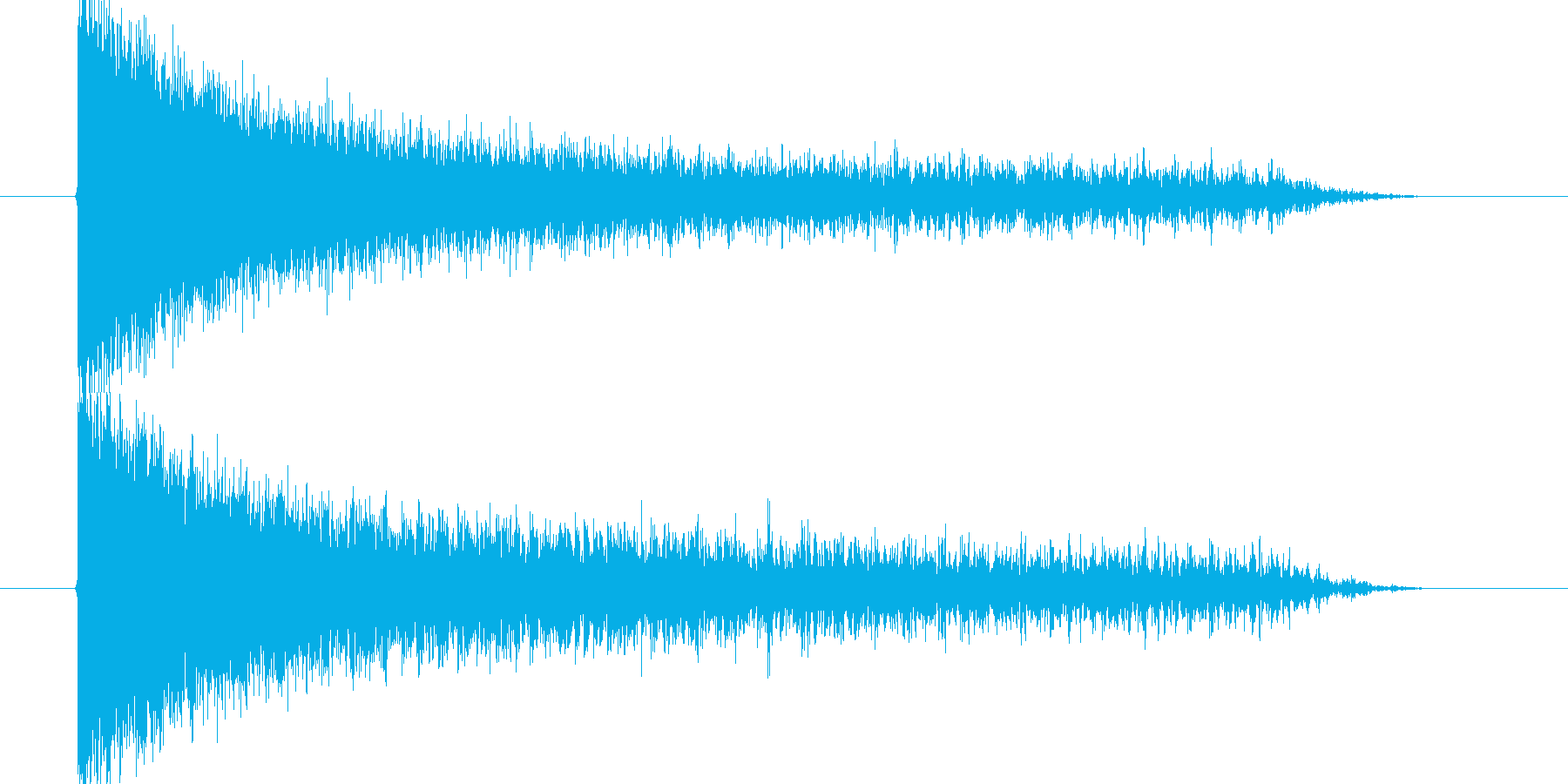 ガガーンの再生済みの波形
