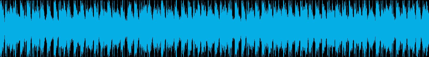 ピアノが特徴のEDM ファンク ループの再生済みの波形