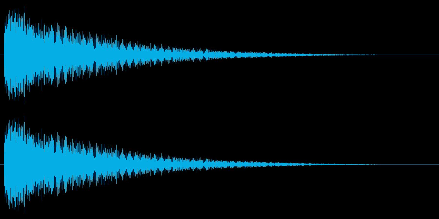 キラ~ン (魔法をかけたような決定音)の再生済みの波形