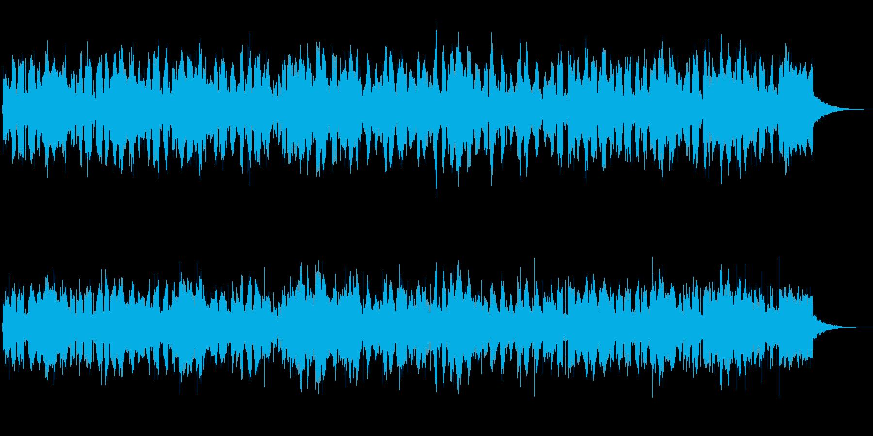 アコーディオンの牧歌風的なジングルの再生済みの波形