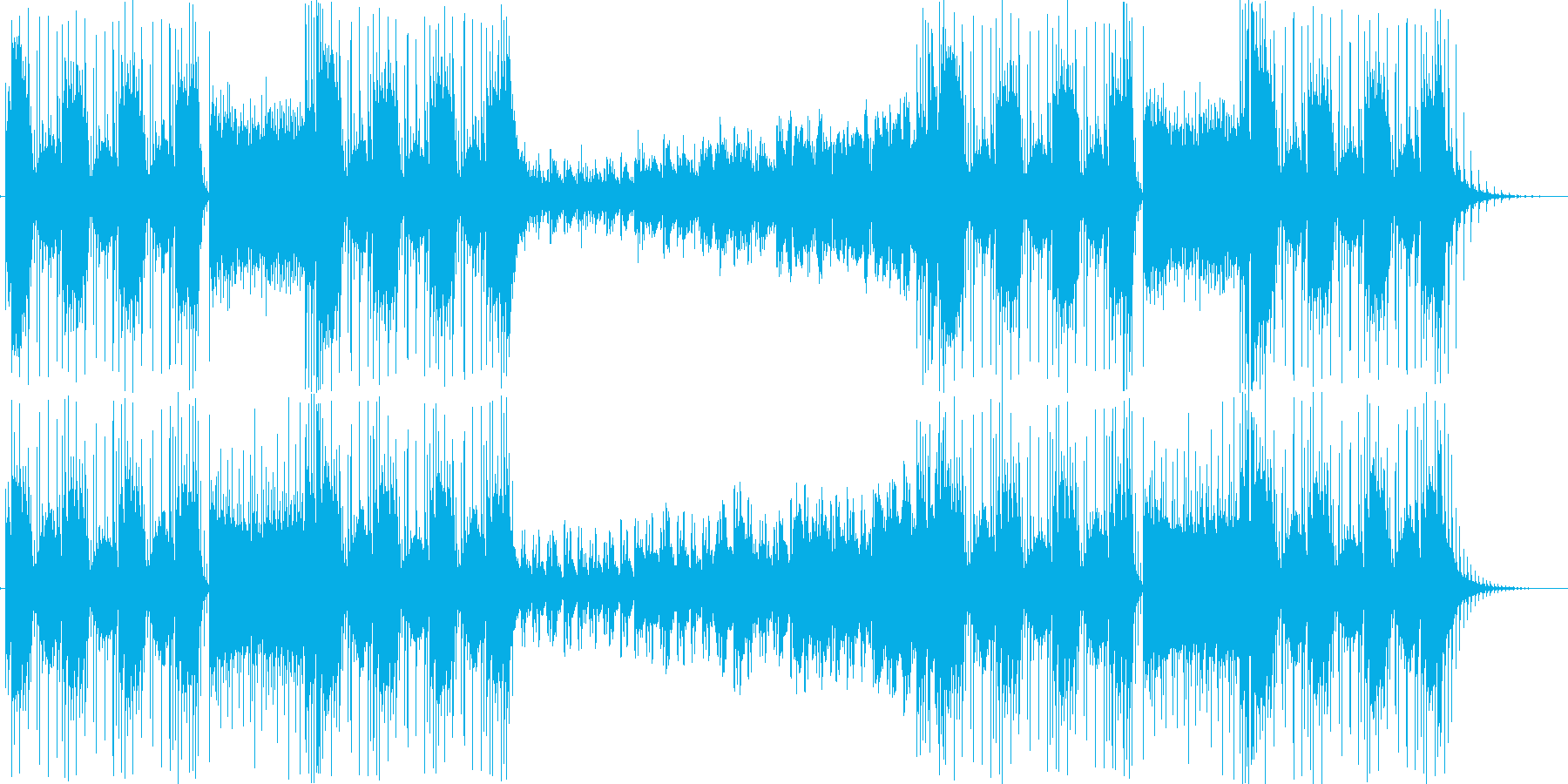 不穏な空気を表現した曲の再生済みの波形