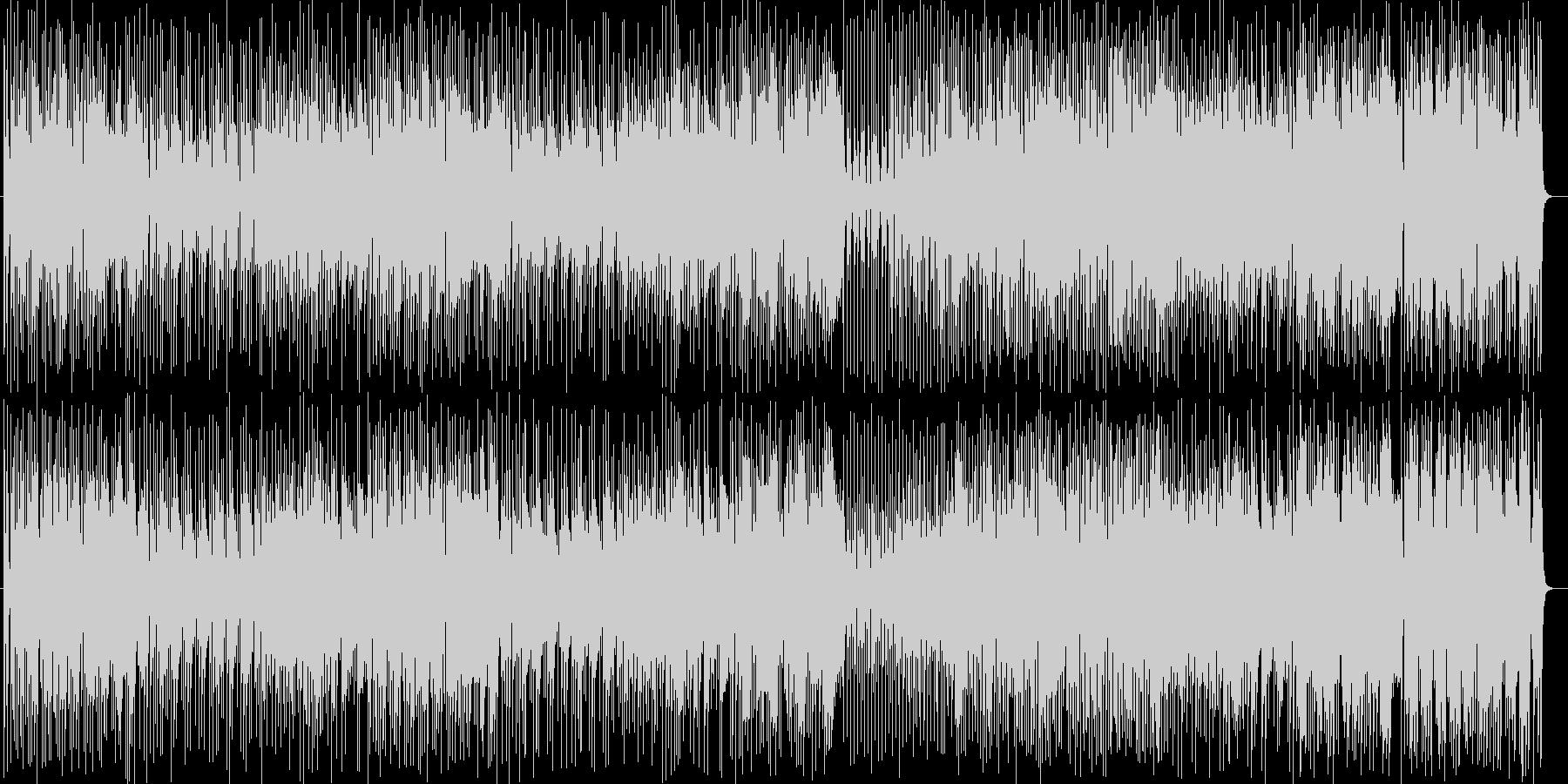 明るいポップなラテン調の曲の未再生の波形