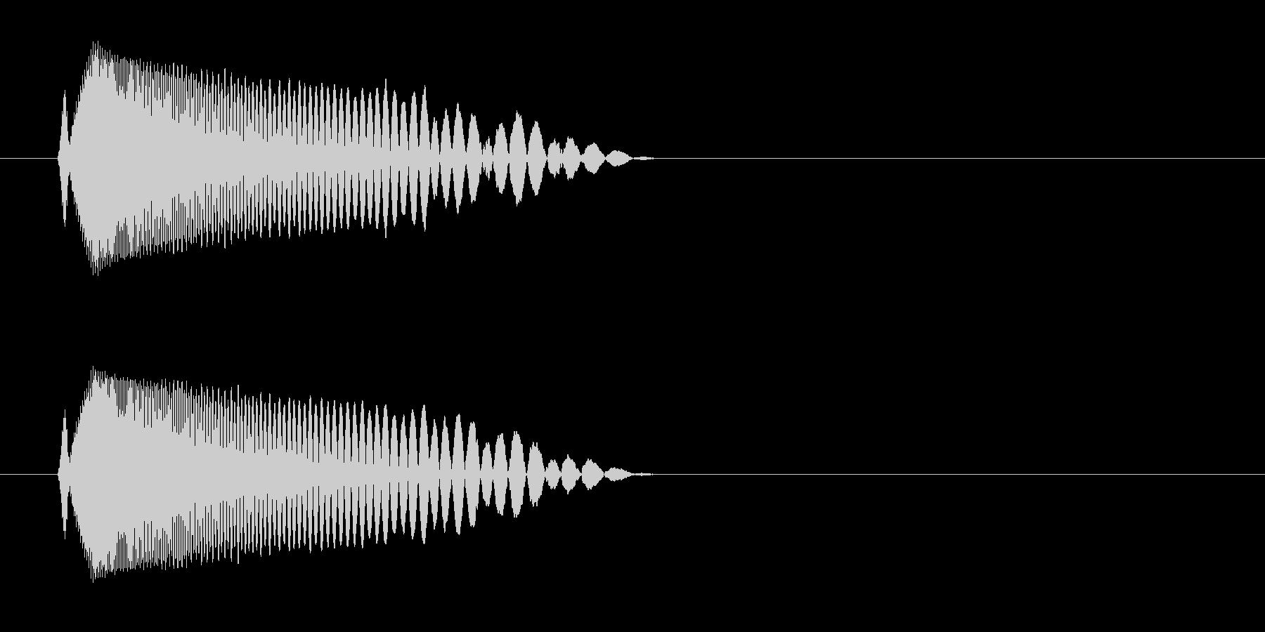 チュン(ビームを放つような音)の未再生の波形