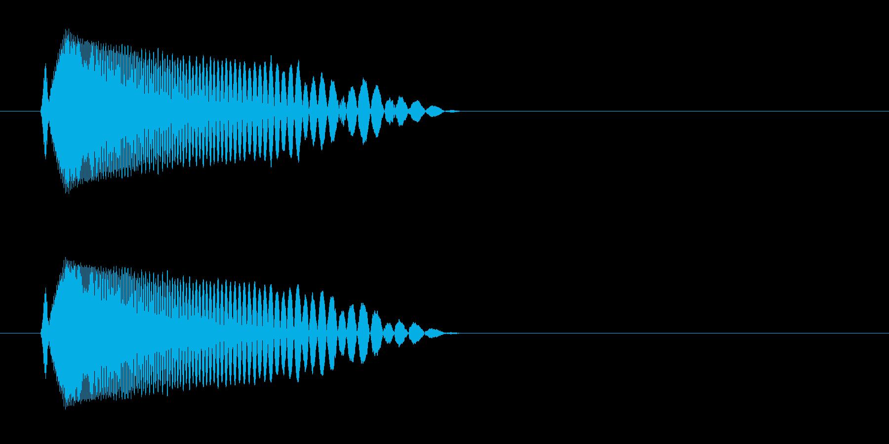 チュン(ビームを放つような音)の再生済みの波形