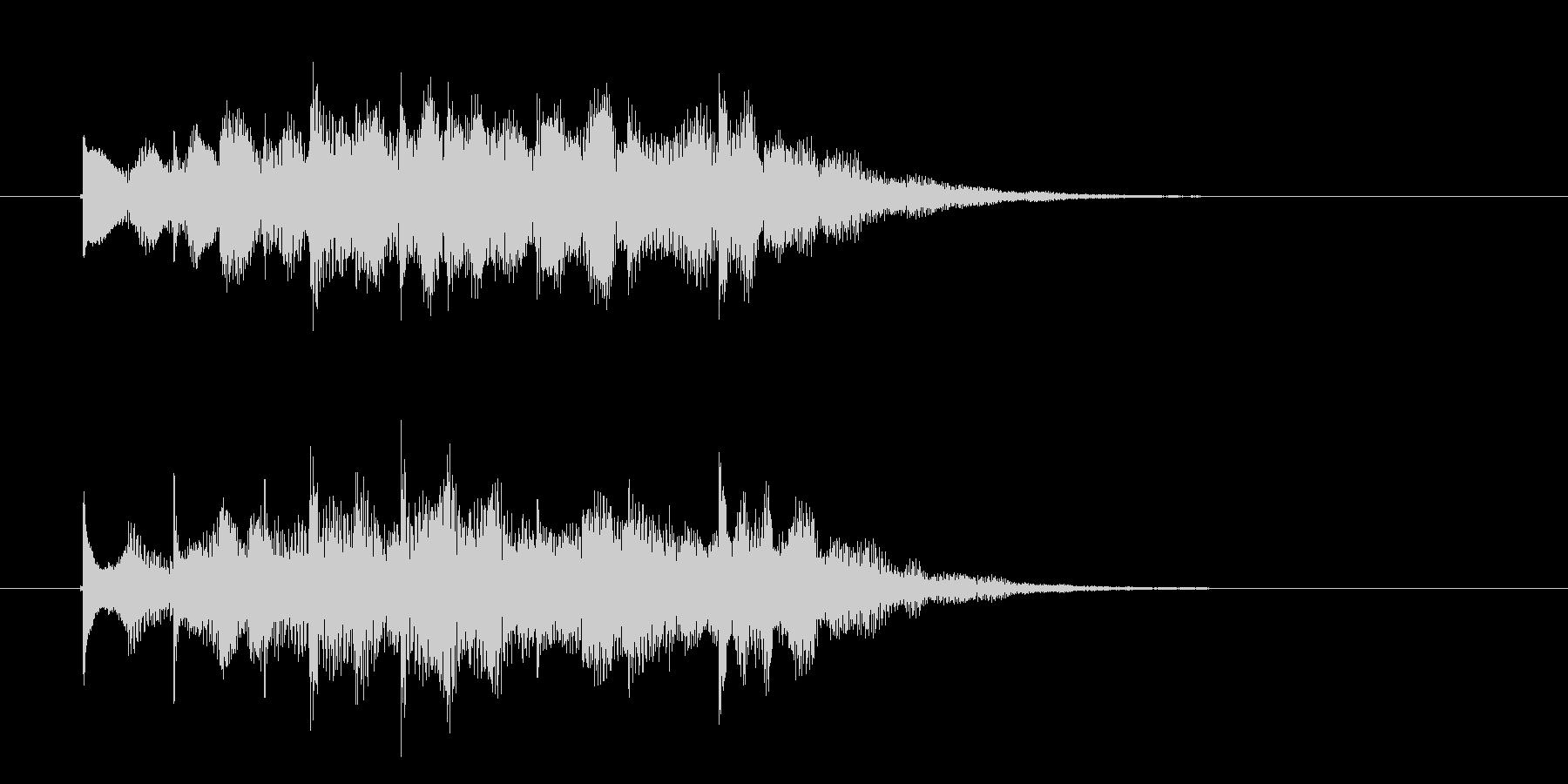 神秘的でスピリチュアルなジングルの未再生の波形