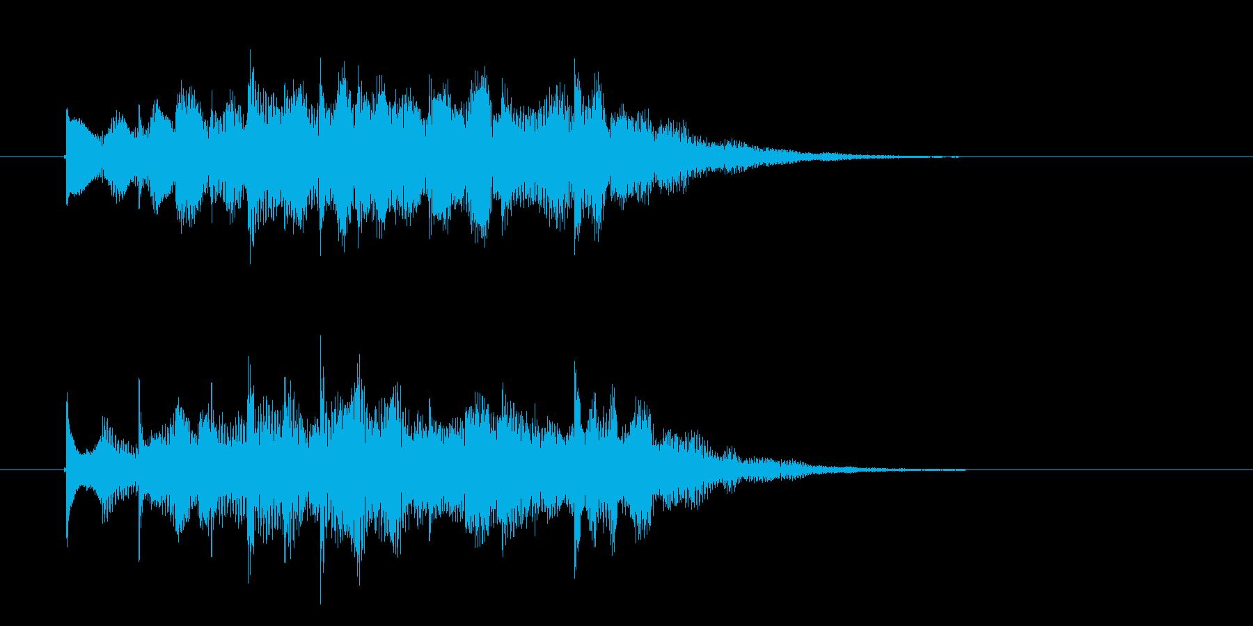 神秘的でスピリチュアルなジングルの再生済みの波形