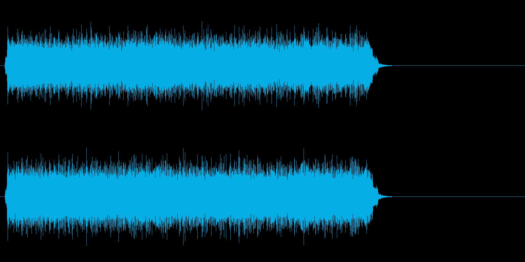 疾走するアメリカンロック(サビ)の再生済みの波形