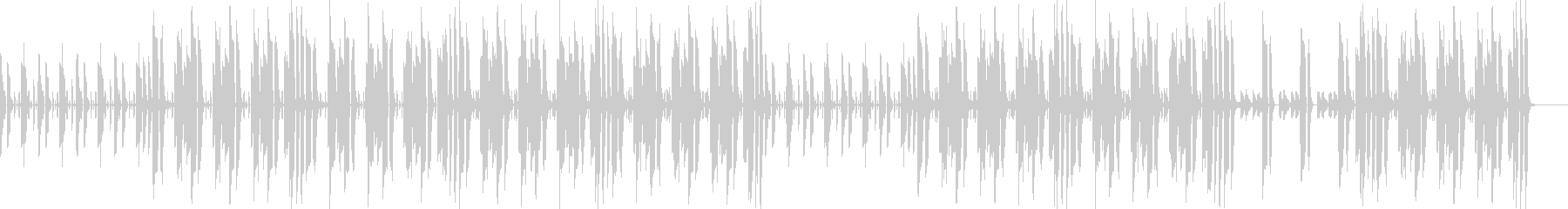 シンプルな構成で説明シーンに最適な曲の未再生の波形