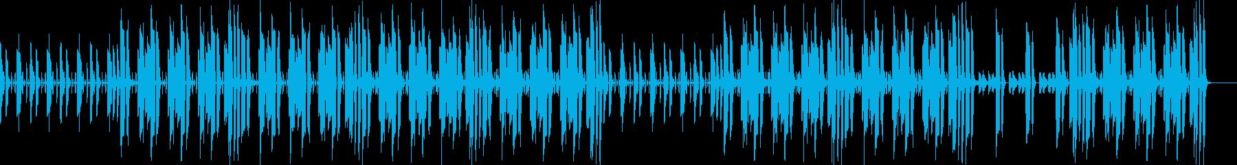 シンプルな構成で説明シーンに最適な曲の再生済みの波形