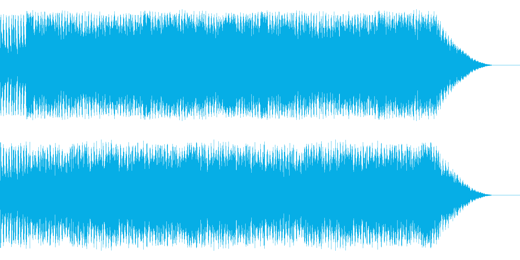RPGの草原をイメージしたオーケストラの再生済みの波形