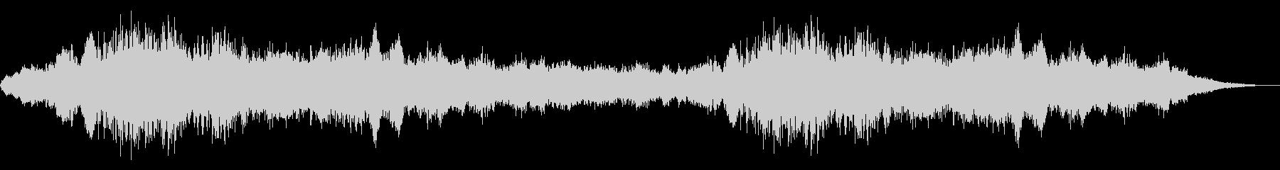 ホラー映画に出てきそうなノイズ系音源11の未再生の波形