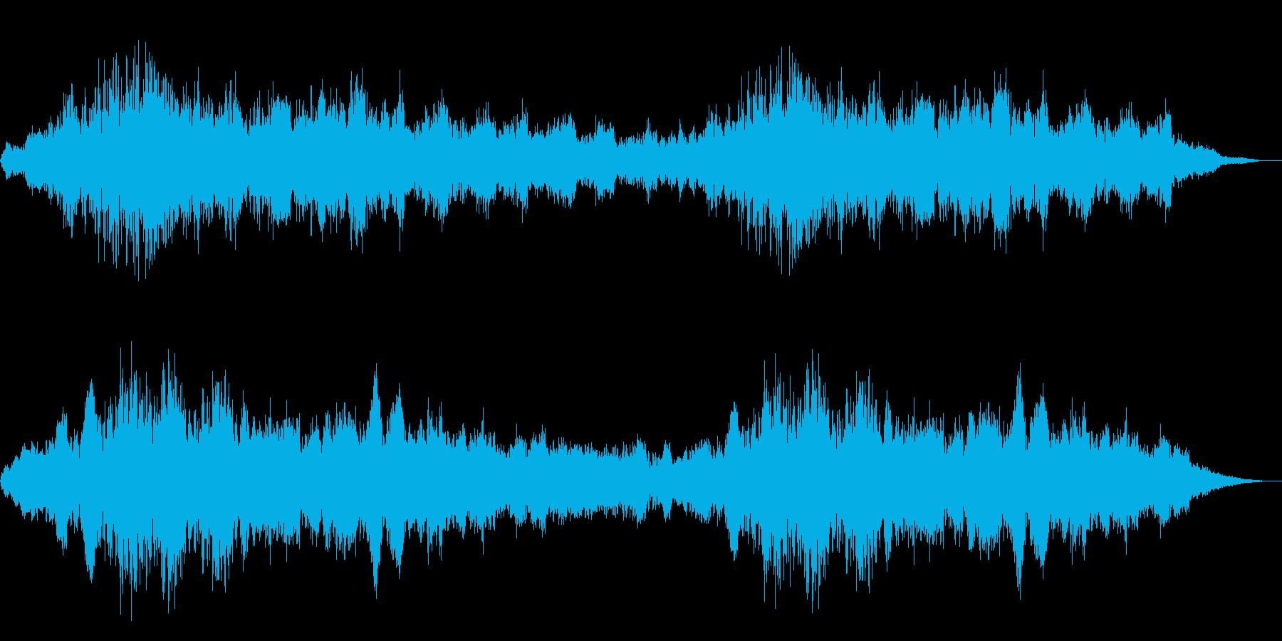 ホラー映画に出てきそうなノイズ系音源11の再生済みの波形