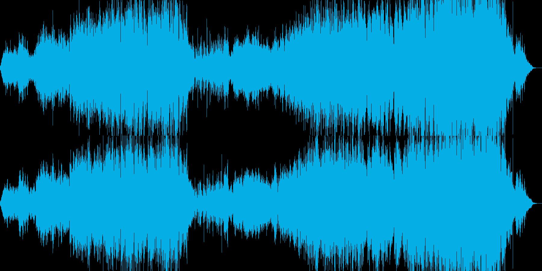 アフリカンな曲の再生済みの波形