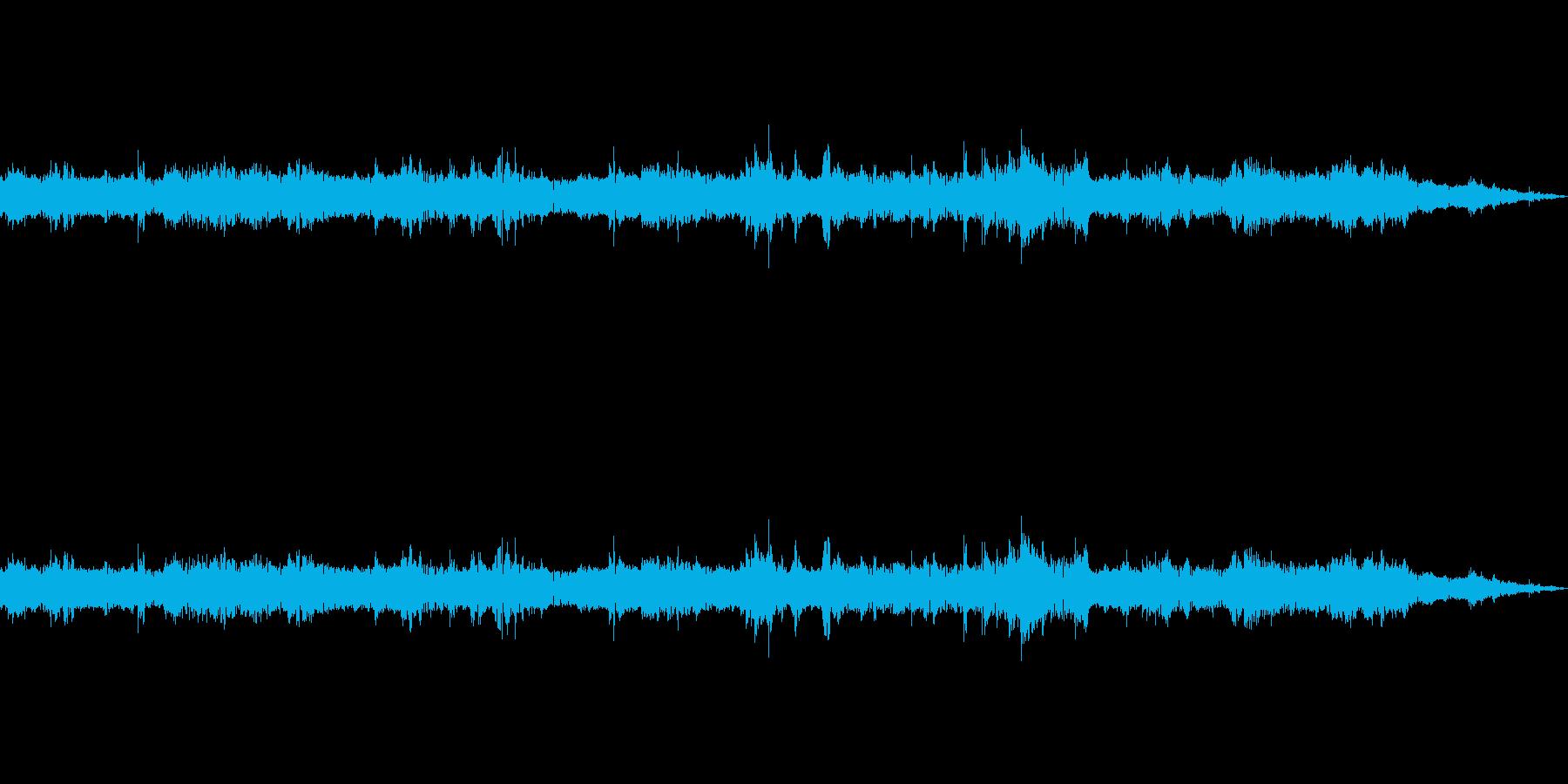 岩が転がる音の再生済みの波形