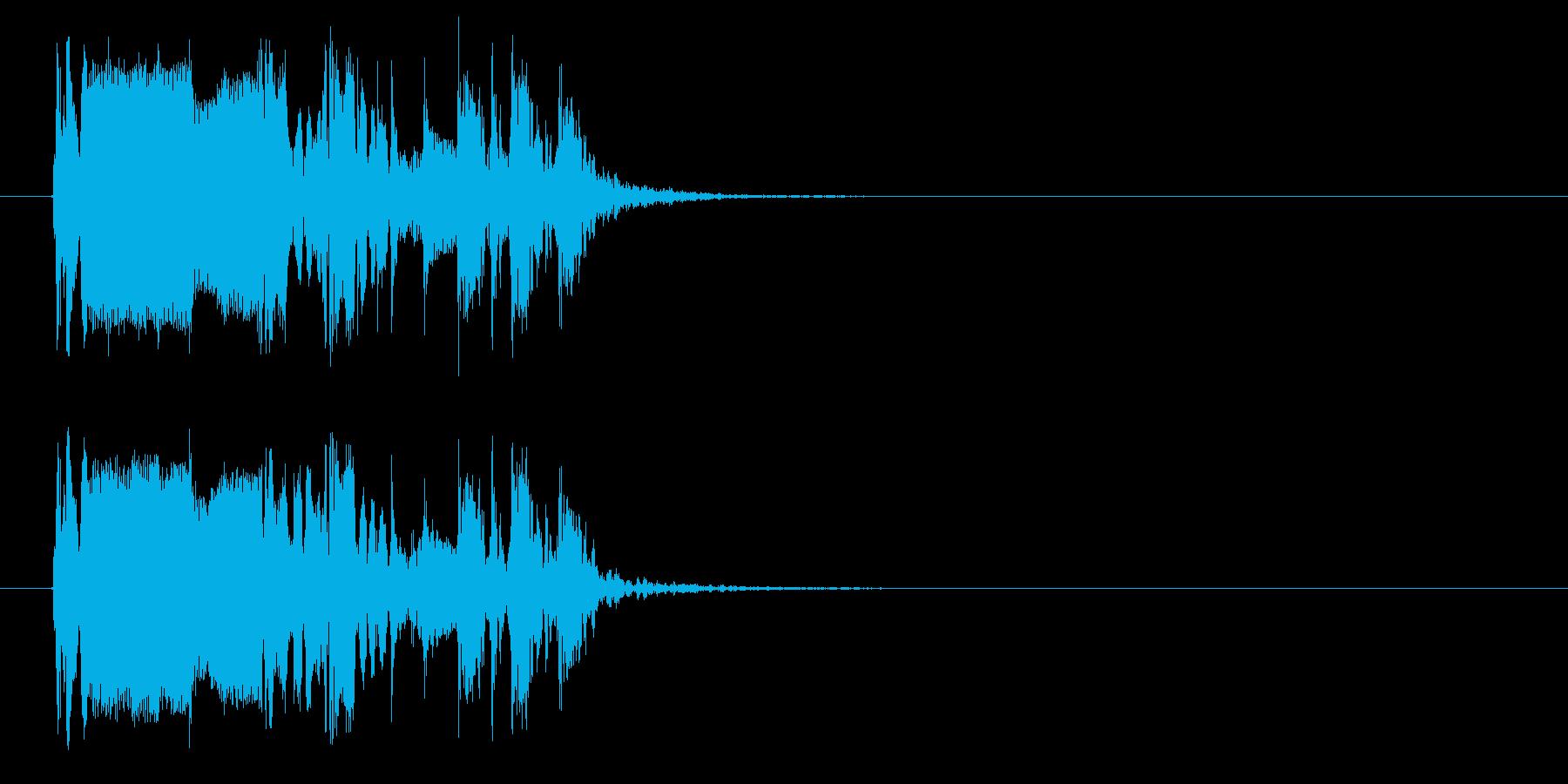 おしゃれでワクワク感のあるシンセサウンドの再生済みの波形
