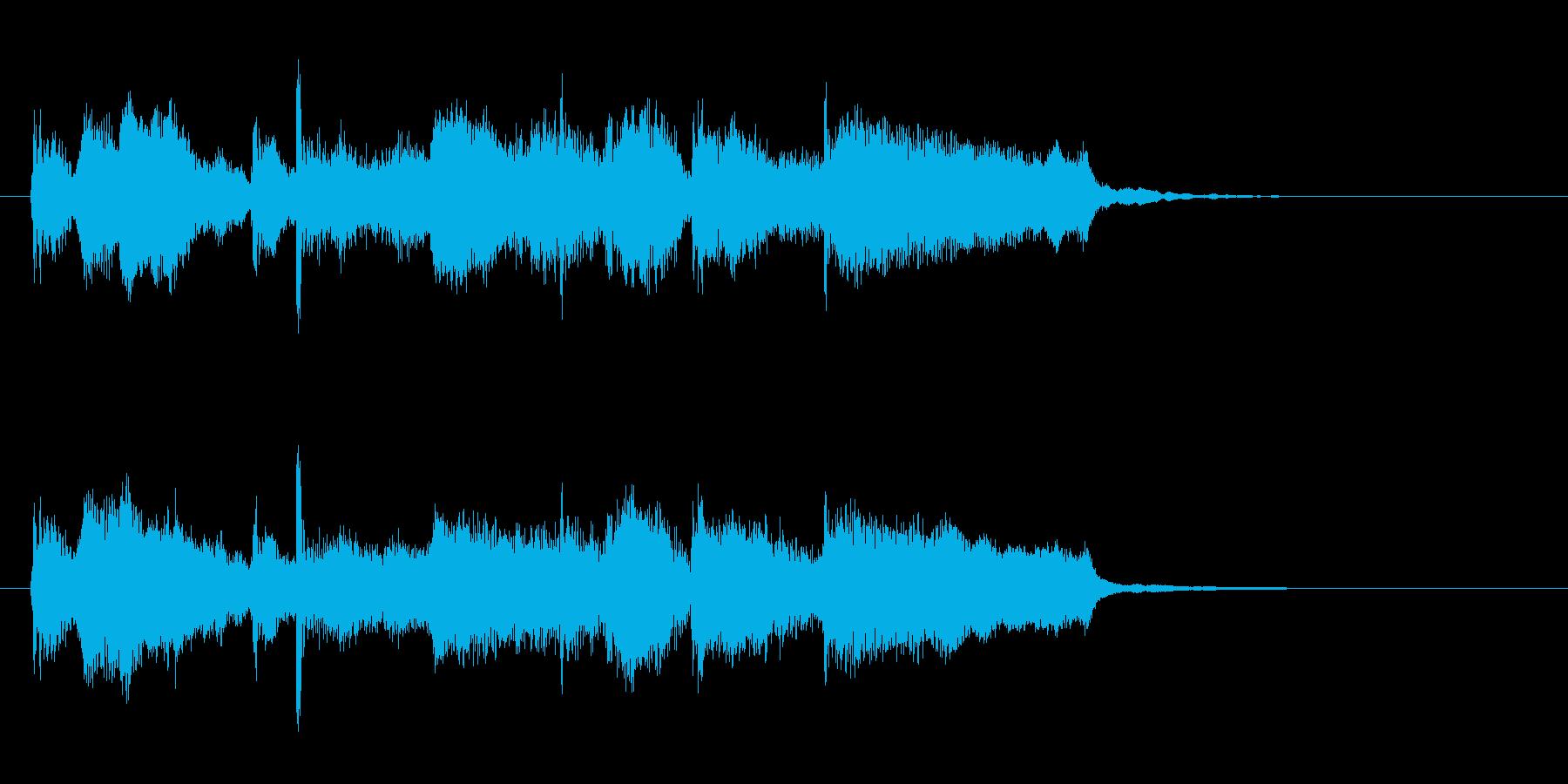 CMロゴプレゼン疾走感おもしろジャズdrの再生済みの波形