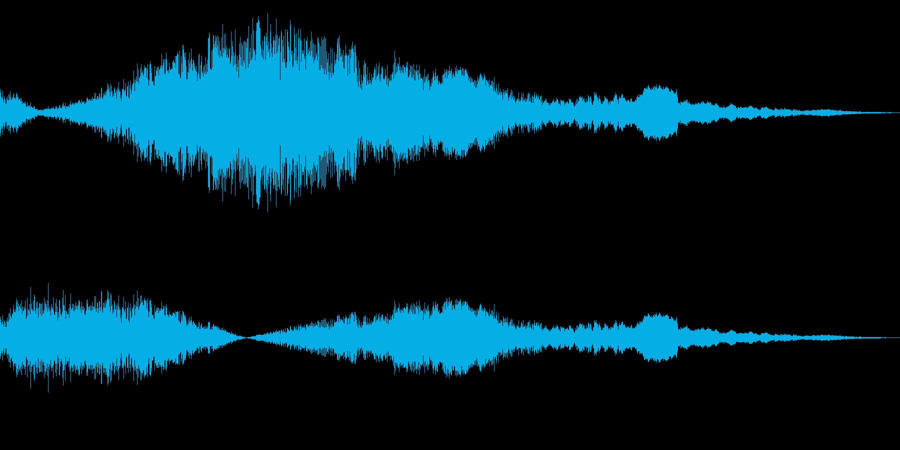 F1などのレース、エンジン効果音43+!の再生済みの波形