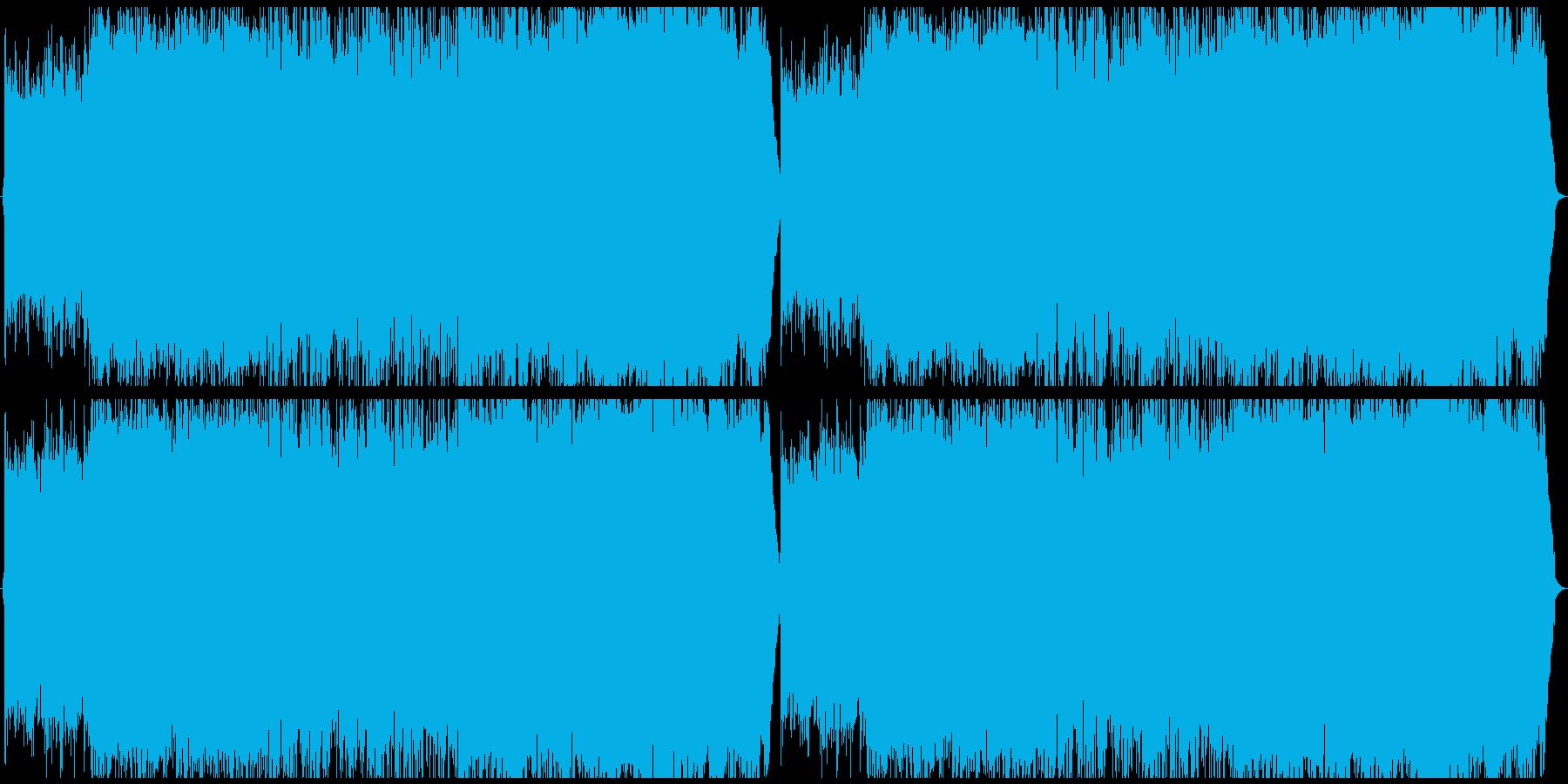 不思議で淋しげなフォークの再生済みの波形
