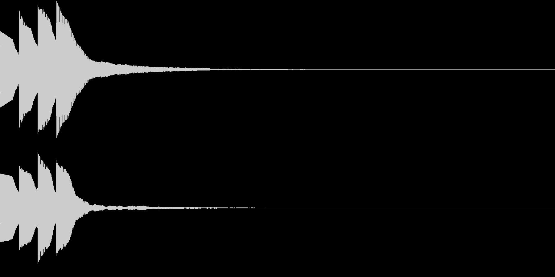 Quiz 美しい残響の正解ピンポン音 1の未再生の波形