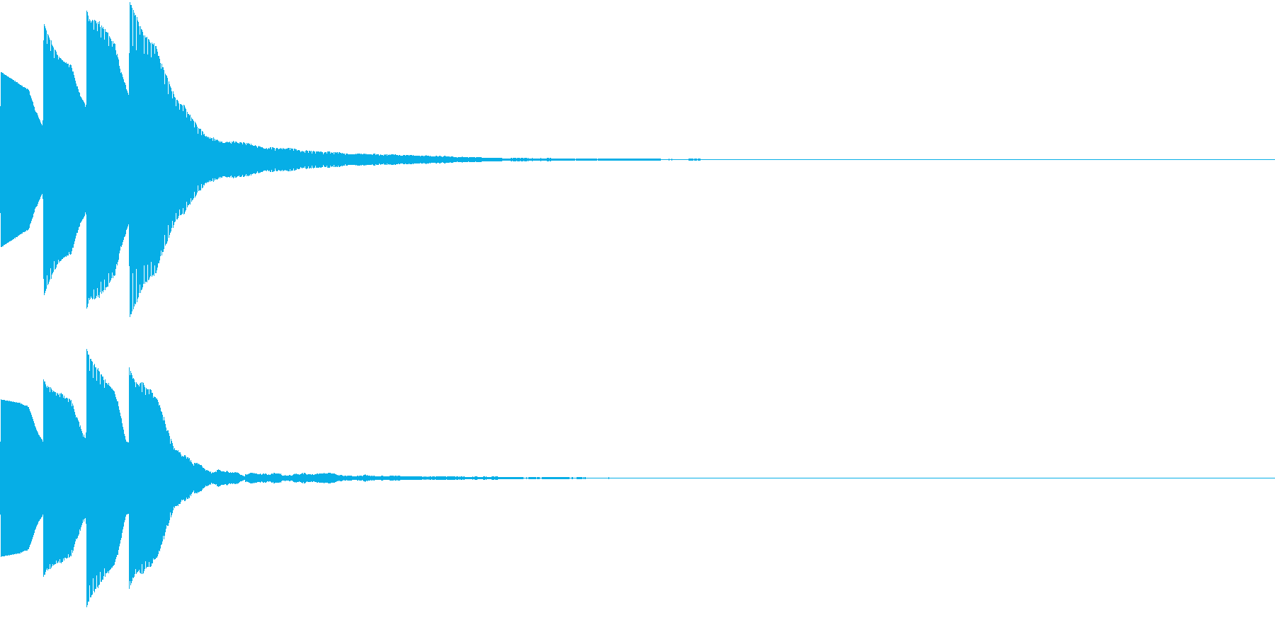 Quiz 美しい残響の正解ピンポン音 1の再生済みの波形