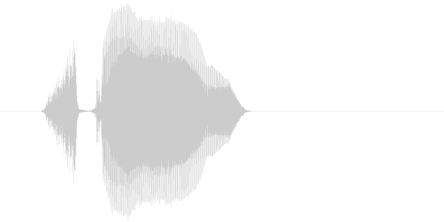 「スコーン」の未再生の波形