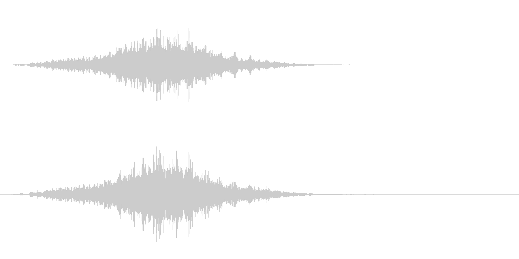 重めの鈴の音「えきろ」フレーズ音1+Fxの未再生の波形