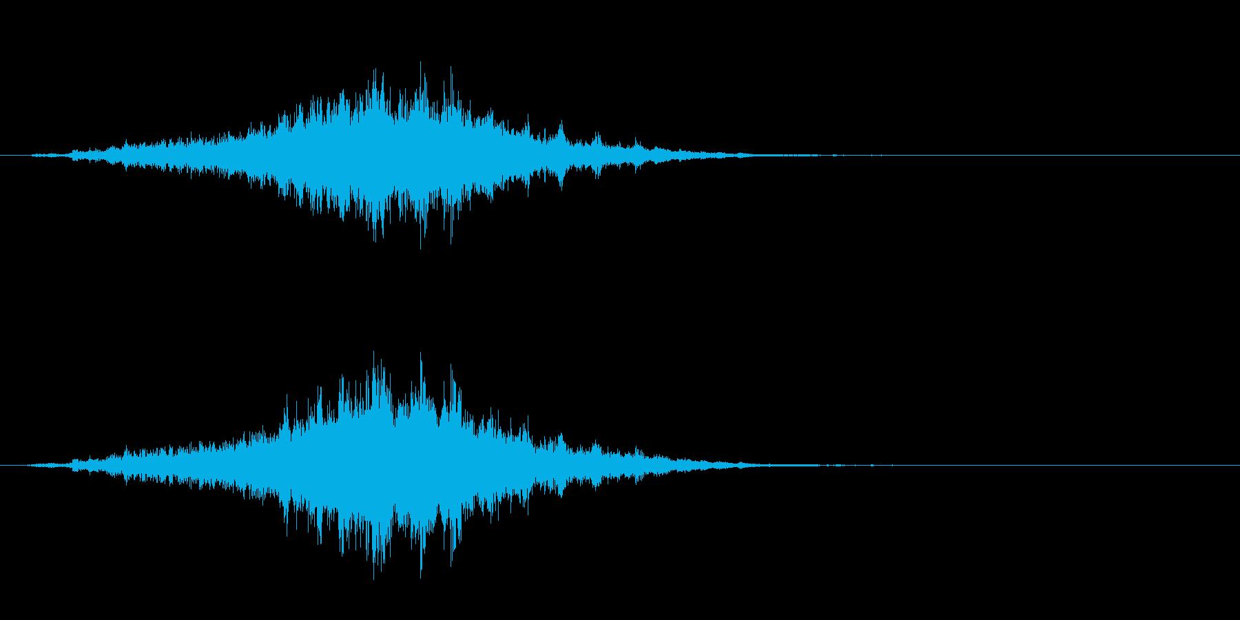 重めの鈴の音「えきろ」フレーズ音1+Fxの再生済みの波形