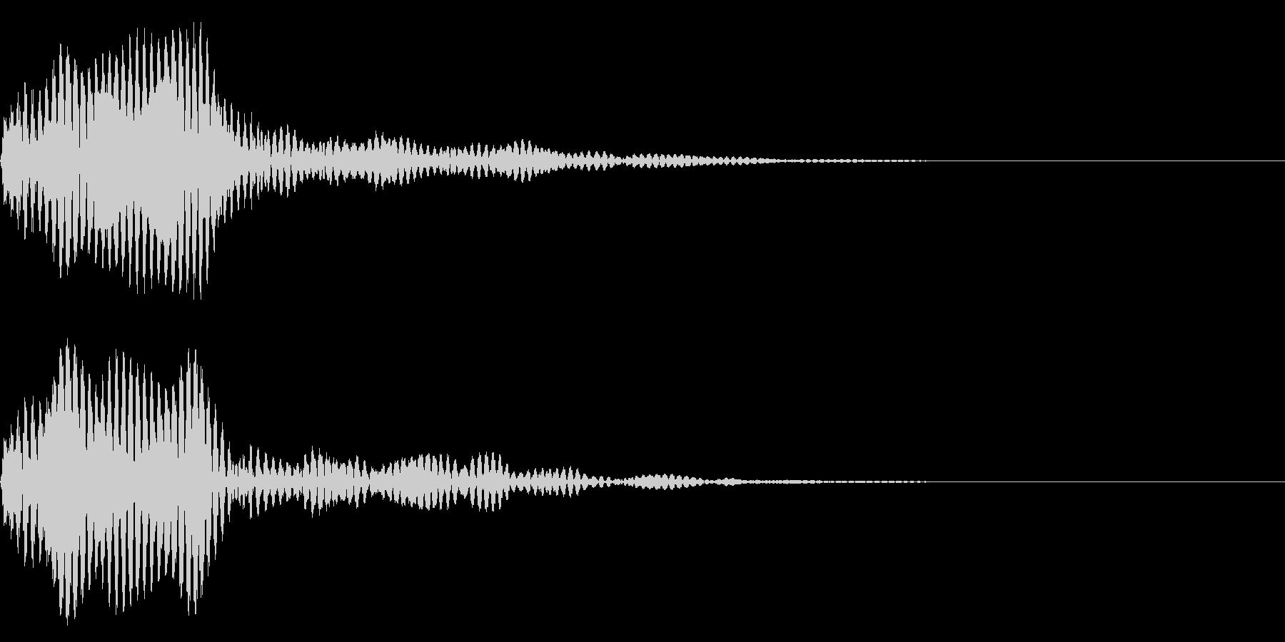 フォン モニターを付けるSF風効果音の未再生の波形