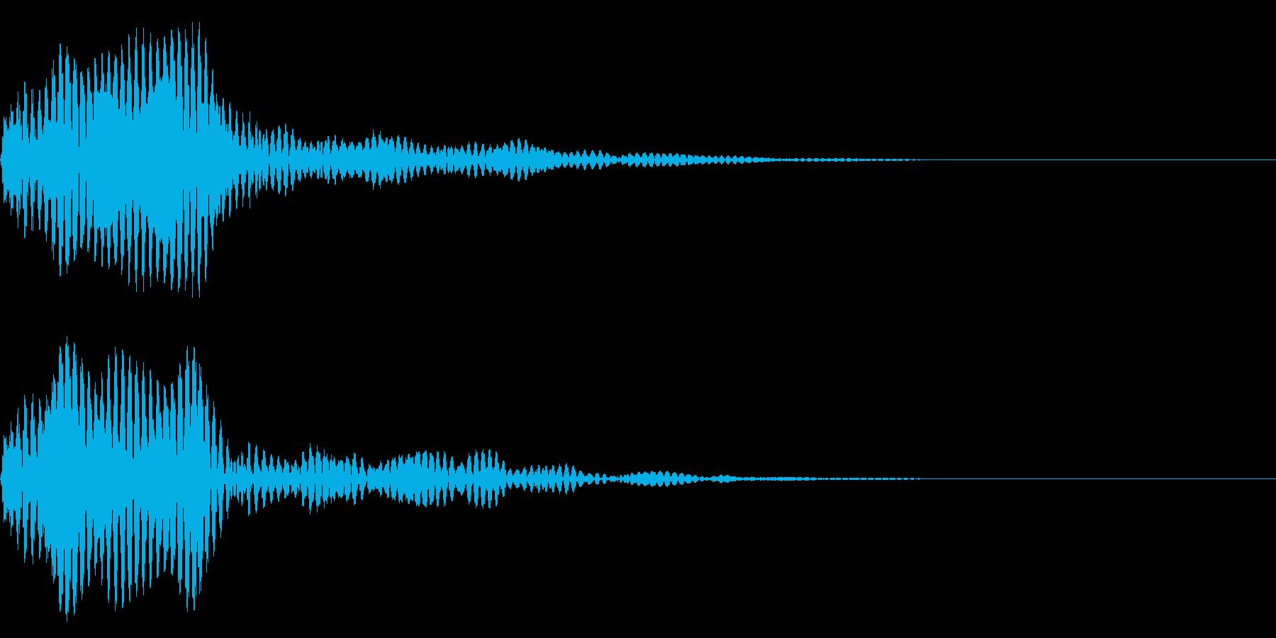 フォン モニターを付けるSF風効果音の再生済みの波形