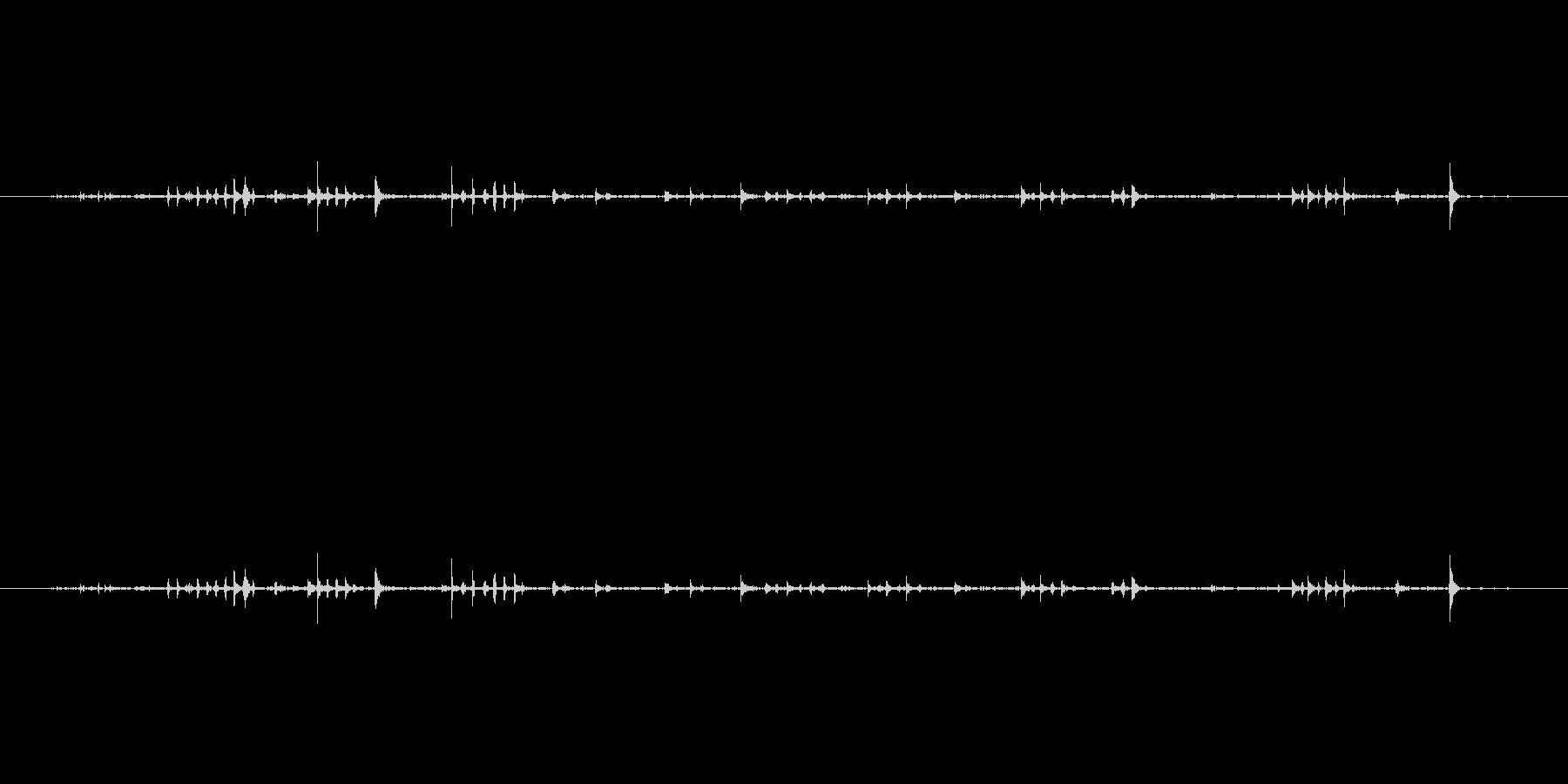 キーボードをタイピングするときの音ですの未再生の波形
