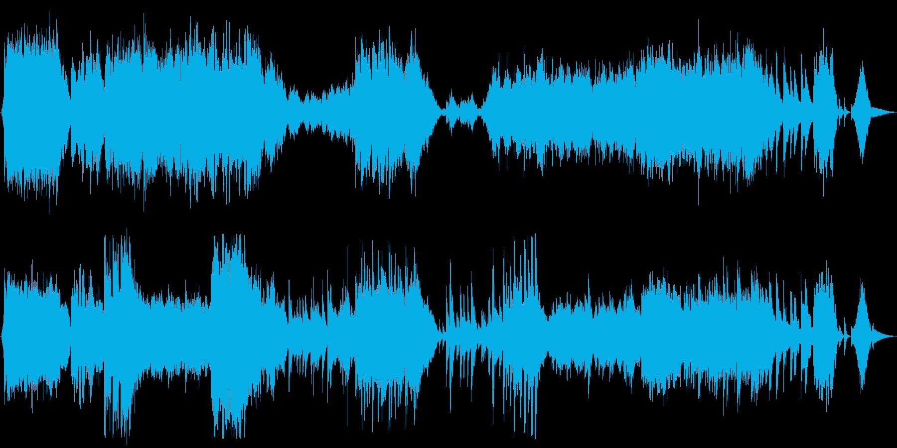 映画、劇半に適したオケ曲の再生済みの波形
