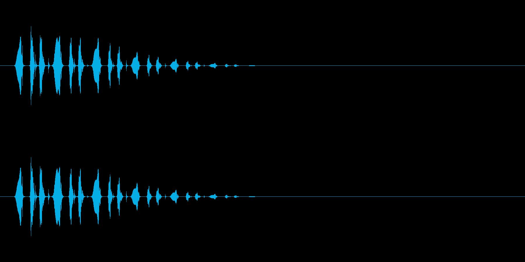 ぴょこぴょこぴょこ…(逃げ足、小動物)の再生済みの波形