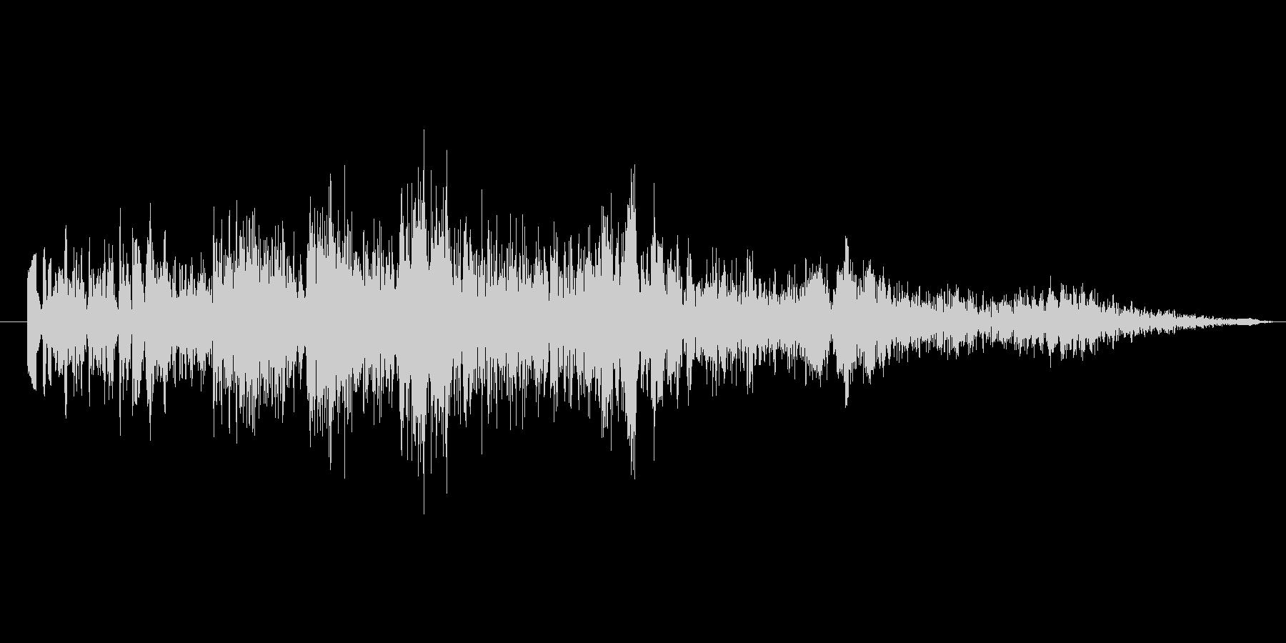 怪しげなタイトル音2の未再生の波形