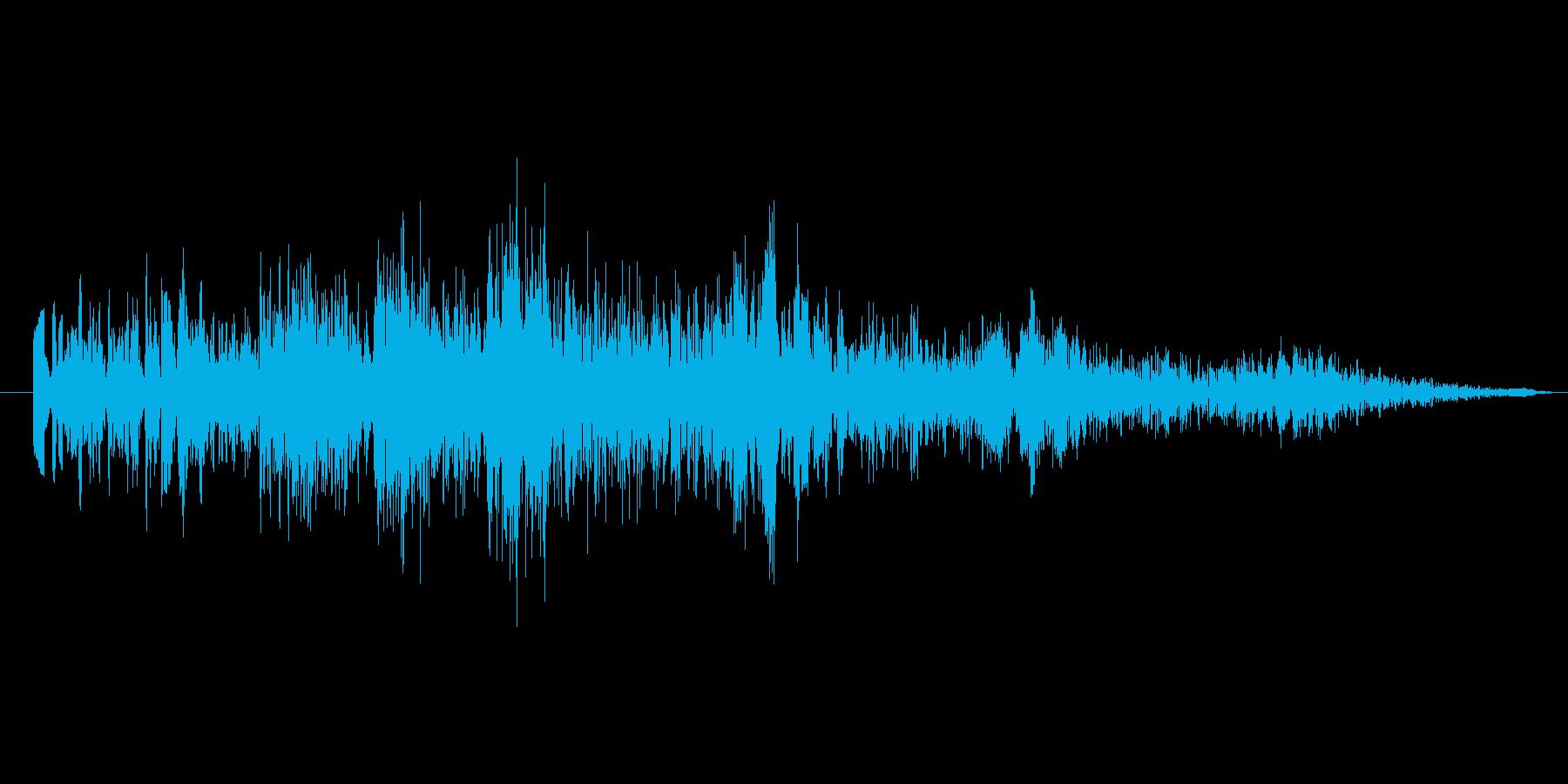 怪しげなタイトル音2の再生済みの波形