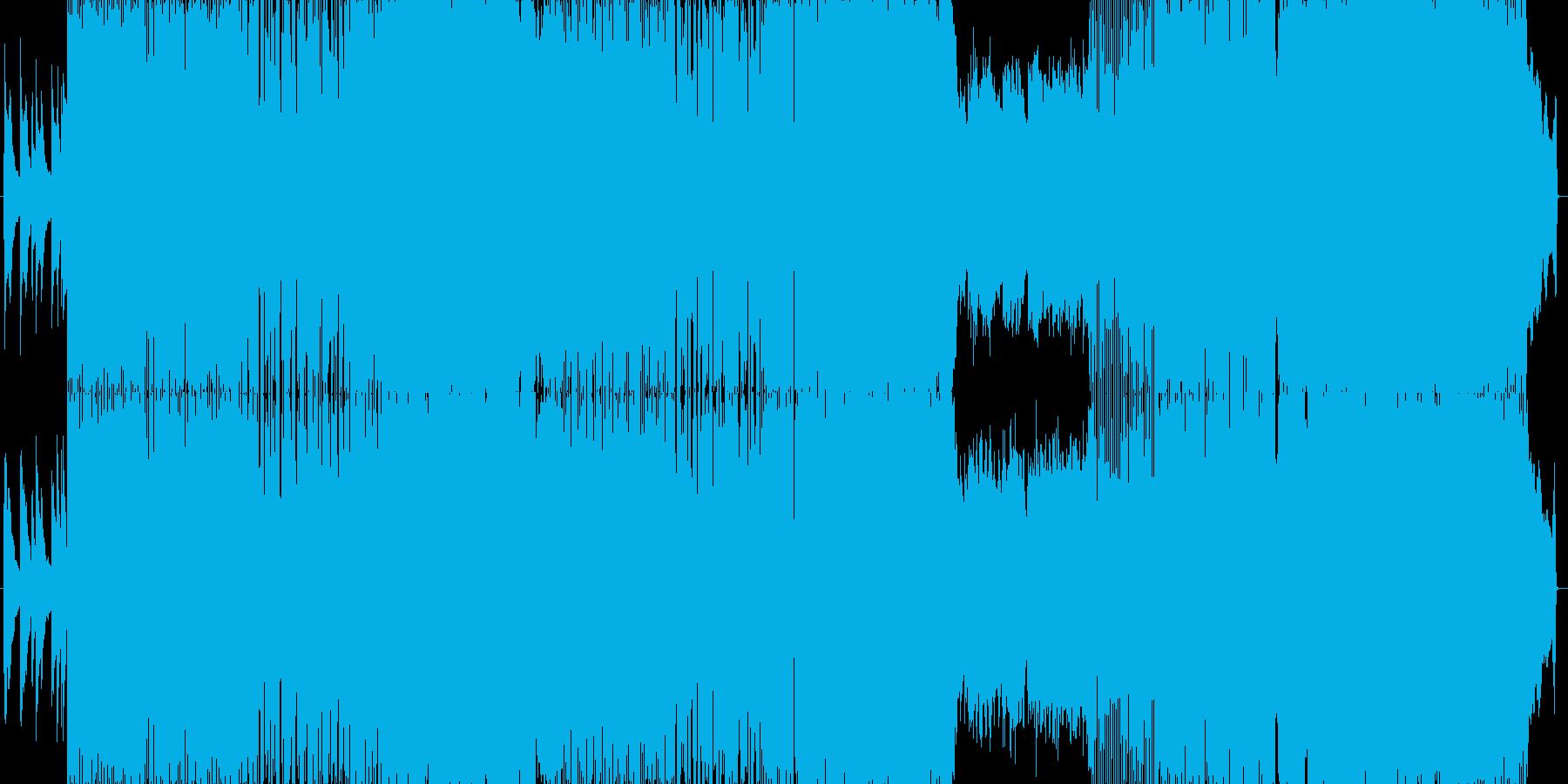 ロックバンドによる派手な生演奏。の再生済みの波形