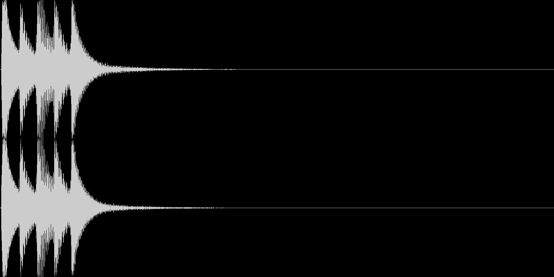 クリック(ゲーム、アプリ等の操作音03)の未再生の波形