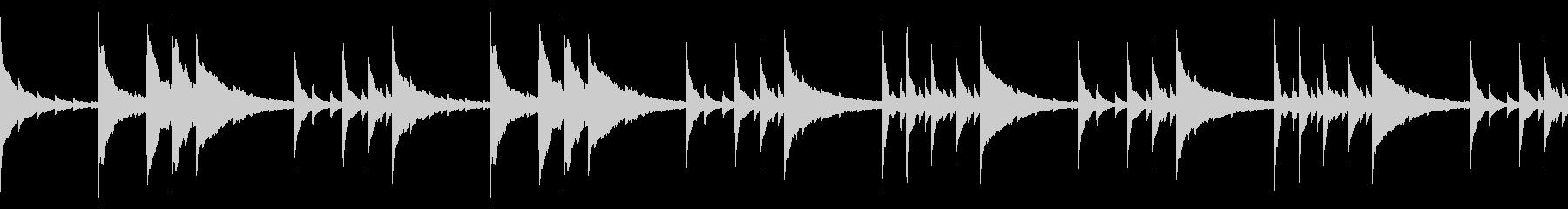 切ないピアノ楽曲(ループ仕様)の未再生の波形