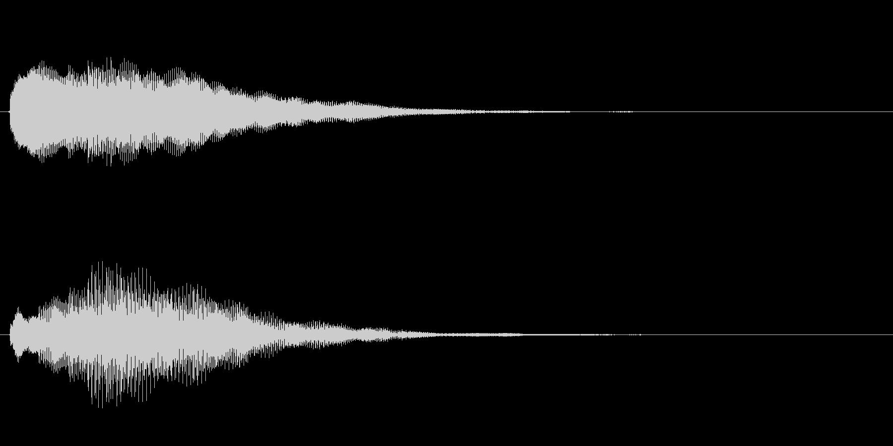 キラキラしたベルの上昇音3の未再生の波形