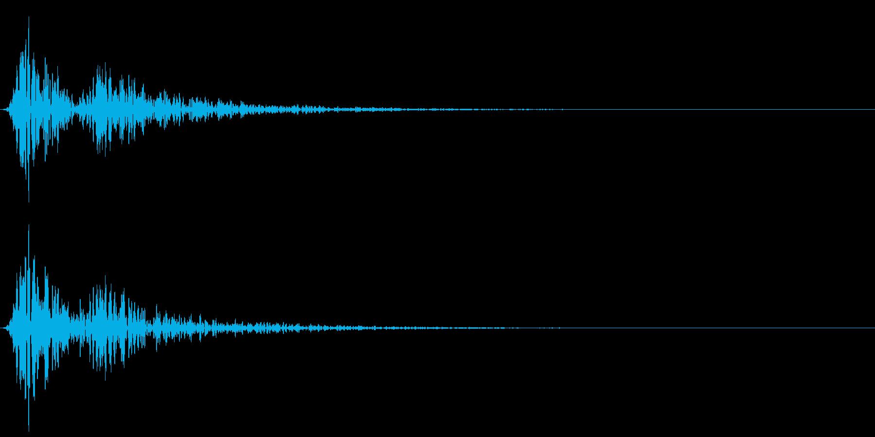 心臓の鼓動 単発(ドックン)の再生済みの波形