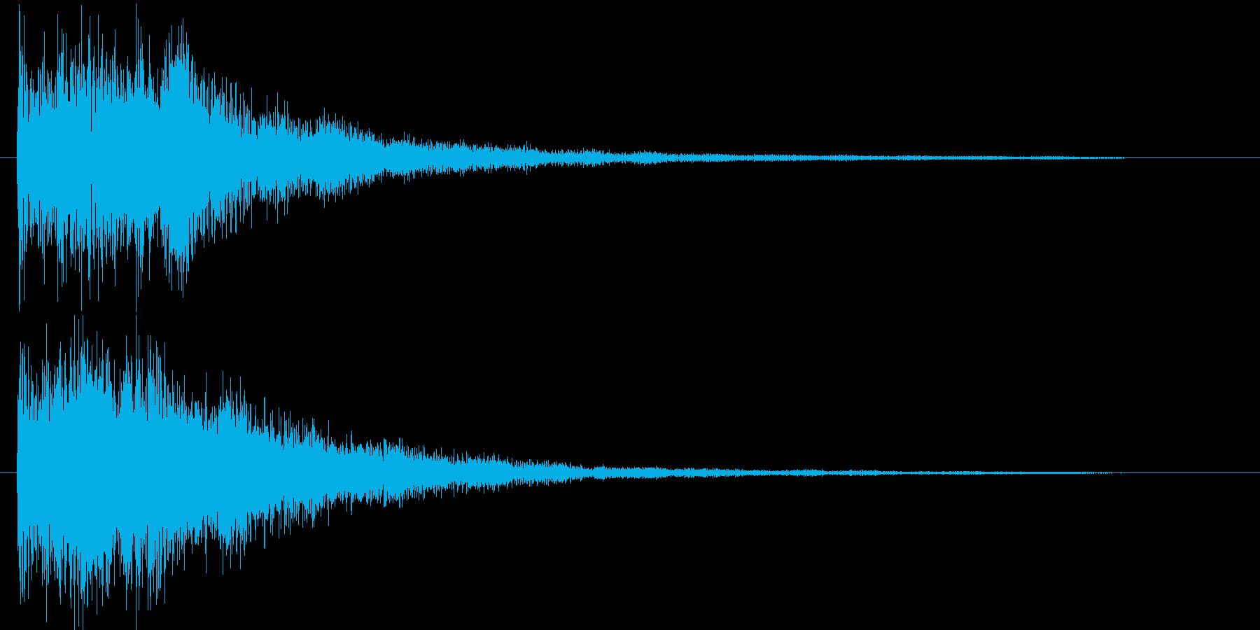 和風クリックジングルアイキャッチの再生済みの波形
