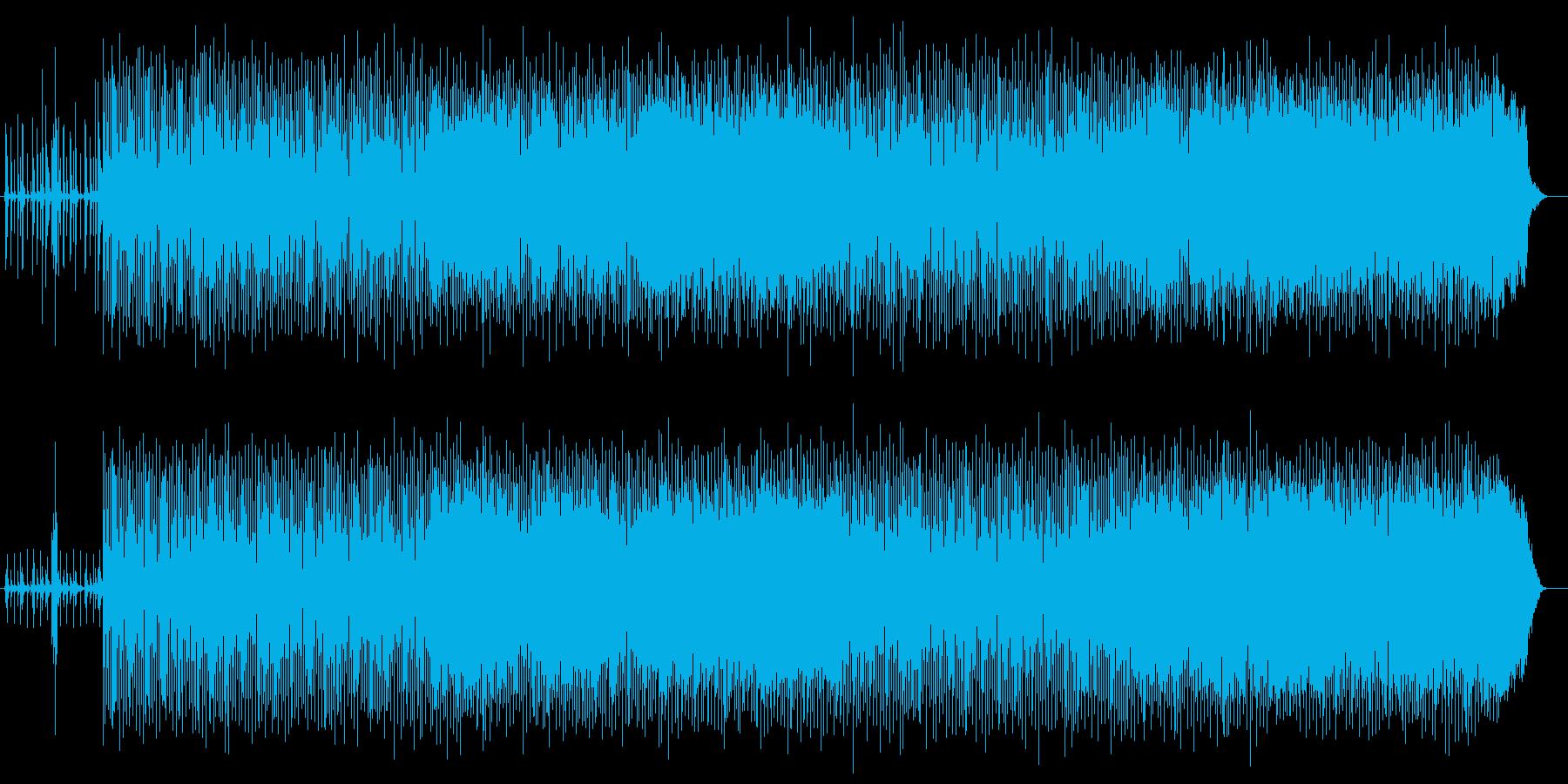 かっこいいお洒落なギターの効いた曲の再生済みの波形